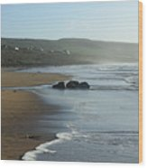 Fanore Beach Clare Wood Print