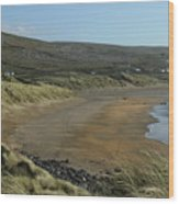 Fanore Beach The Burren Wood Print