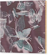 Fantasy Flutters Wood Print