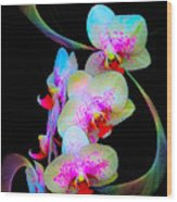 Fantasy Orchids In Full Color Wood Print