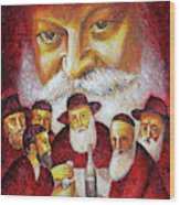 Farbrengen With The Rebbe Wood Print