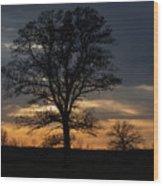 Farm Country Sunset Wood Print