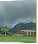 Farm House Wood Print