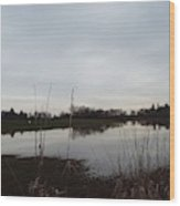 Farm Pond Wood Print