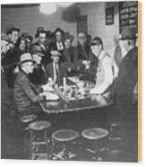 Faro Gambling House After Legalization Wood Print
