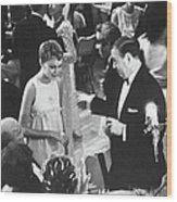 Farrow & Sorenson At Black & White Ball Wood Print