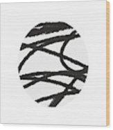Fastball 2- Modern Art By Linda Woods Wood Print
