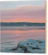 February Sunrise On The Hudson Wood Print