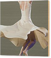 Female Ballet Dancer Dancing Wood Print