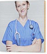 Female Doctor Wood Print