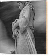 Female In Cemetary II Wood Print