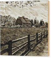 Ferndale Barn Wood Print
