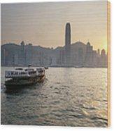 Ferry Boat To Hong Kong Wood Print