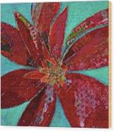 Fiery Bromeliad I Wood Print