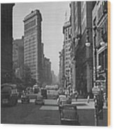 Fifth Ave. And The Flatiron Bldg Wood Print