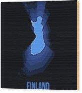 Finland Radiant Map I Wood Print