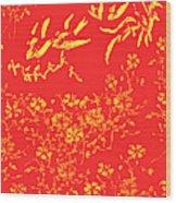 Fire Birds Wood Print