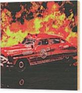 Fire Hornet Wood Print