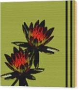 Fire Lilies Wood Print