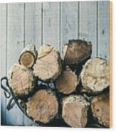 Fire Wood.  Home Living Concept Wood Print