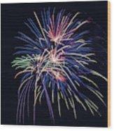 Firework 2019 Five Wood Print