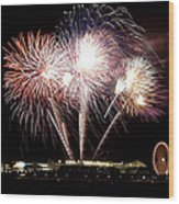 Fireworks In Chicago Wood Print