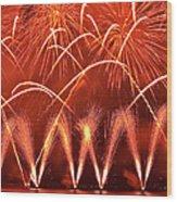 Fireworks Over West Lake, Hangzhou Wood Print