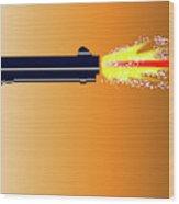 Firing Revolver Wood Print