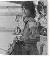 First Female American Astronaut Sally Wood Print
