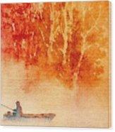Fisherman's Mist Wood Print
