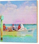 Fishing Bandit Wood Print