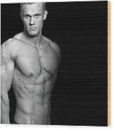 Fitness Portrait Wood Print