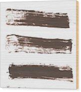 Five Tan Streaks Of Paint Wood Print