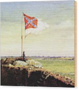 Flag Of Fort Sumter Wood Print