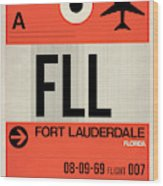 Fll Fort Lauderdale Luggage Tag I Wood Print