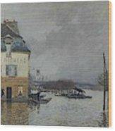 Flood At Port-marly, 1876 04 Wood Print