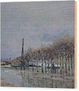Flood At Port-marly, 1878 Wood Print