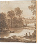 Floodplain With Watering Place  C  Wood Print