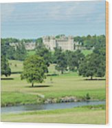 Floors Castle And River Tweed Wood Print