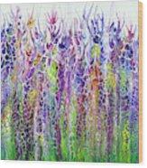 Floral Reach Wood Print