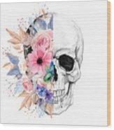 Floral Skull 2 Wood Print
