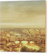 Florence, Ponte Vecchio Wood Print