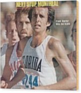 Florida Frank Shorter, 1976 Us Olympic Trials Sports Illustrated Cover Wood Print