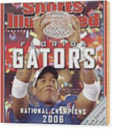 Florida Qb Chris Leak, 2007 Bcs National Championship Game Sports Illustrated Cover Wood Print