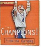 Florida Qb Danny Wuerffel, 1997 Sugar Bowl Sports Illustrated Cover Wood Print