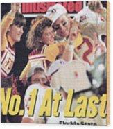 Florida State University Matt Frier, 1994 Fedex Orange Bowl Sports Illustrated Cover Wood Print