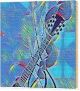 Flow Of Music Wood Print