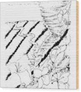 Flower Farmers Tornado Paint My Sketch Wood Print