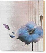 Flower On White Background Wood Print