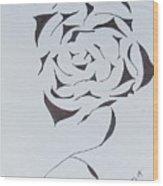 Flower Opening Wood Print